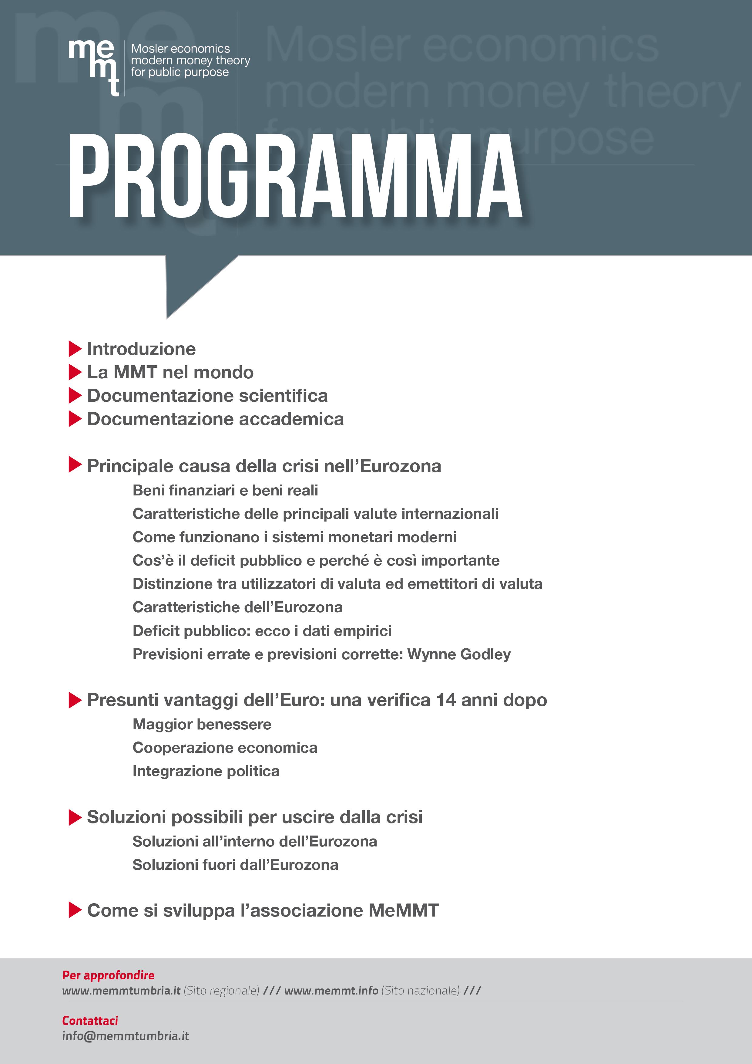 Programma MeMMT - 2015 05 14 Foligno Palazzo Trinci